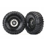 "Traxxas Tires and wheels, assembled (Method 105 black chrome beadlock wheels, Canyon Trail 1.9"" tires, foam inserts) (1 left, 1 right)"