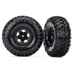 Traxxas Tires and wheels, assembled, glued (TRX-4® Sport wheels, Canyon Trail 2.2 tires) (2)