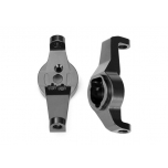 Caster blocks, 6061-T6 aluminum (charcoal gray-anodized), left and right TRX-4