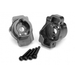Portal drive axle mount, rear, 6061-T6 aluminum (charcoal gray-anodized) (left and right)
