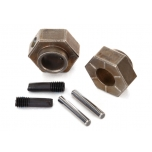 Wheel hubs, 12mm hex (2)/ stub axle pins (2) (steel) (fits TRX-4®)