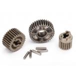 Gear set, transmission, metal (includes 18T, 30T input gears, 36T output gear, 2x9.8 pins (5)) TRX-4