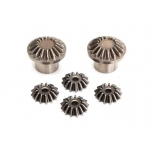 Gear set, rear differential (output gears (2)/ spider gears (4)