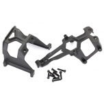Chassis supports, front & rear + hardware, E-Revo 2.0