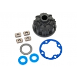 Carrier, differential (heavy duty)/ x-ring gaskets (2)/ ring gear gasket/ spacers (4)