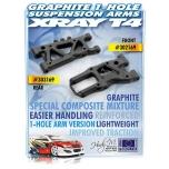 Xray Front Suspension Arm - Graphite - 1-Hole