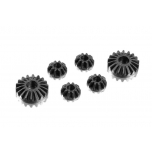 Graphite Gear Diff Bevel + Satellite Gears (2+4) - Low Friction