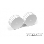 Xray 4WD Front Wheels Aerodisk 14mm hex - White - V2 (2)
