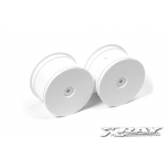 Xray Rear Wheels Aerodisk 14mm hex- White (2)