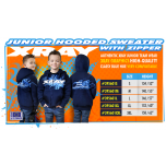 Xray Junior Sweater Hooded With Zipper - Blue (L) (146)